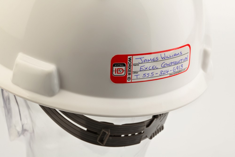 taylor safety equipment vital id temporary worker hard With kitchen cabinets lowes with safety hard hat stickers