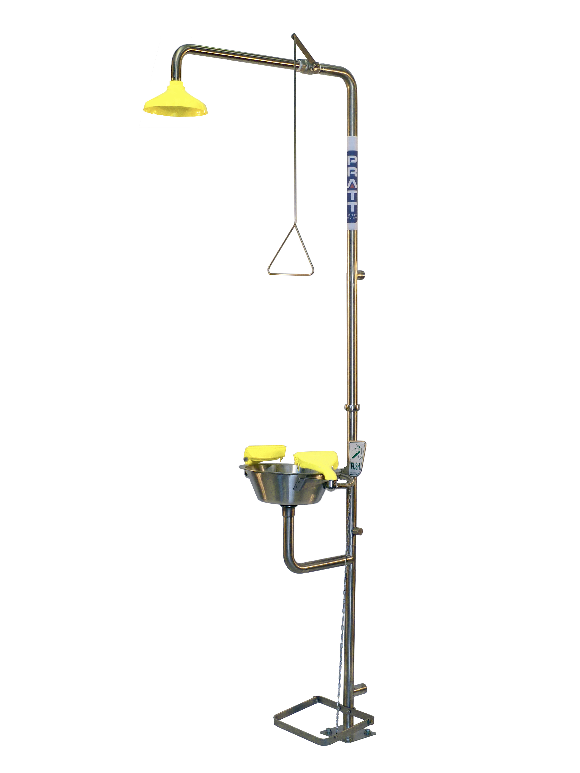 Picture of: Taylor Safety Equipment Deluge Shower With Aerated Eye Face Wash
